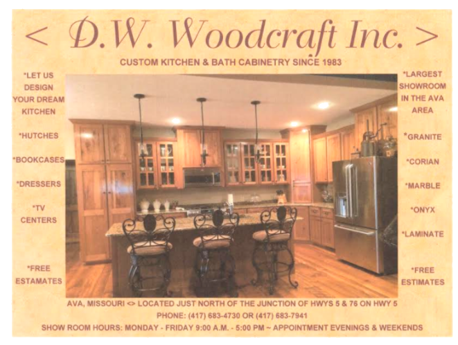 Woodworking Services | D W  Woodcraft, Inc in Ava, MO