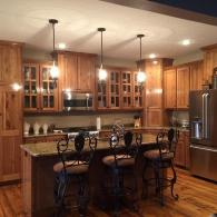 Charming Hickory Kitchen Cabinets